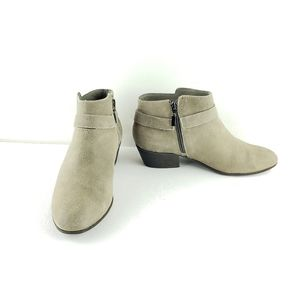 Clarks Collection Taupe Suede Ankle Boots